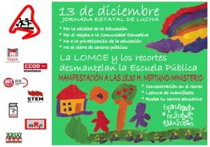 121128.manifestación13N.cartel